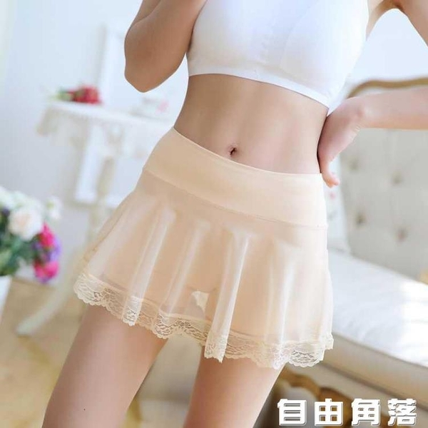 安全裙里白色短安全褲夏天超短花邊肉色200蕾絲角內穿韓版群裙 自由角落