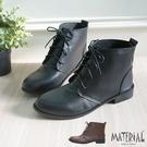 短靴 簡約綁帶平底短靴 MA女鞋 T8020