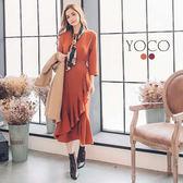 東京著衣【YOCO】時髦優雅綁帶魚尾連身裙洋裝-S.M.L(172378)