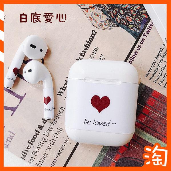 蘋果AirPods可愛卡通貼紙 無線藍牙耳機保護膜 防刮花貼紙 日韓個性充電盒保護膜