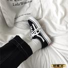 帆布鞋 2021春帆布鞋女黑色板鞋韓版學生原宿風百搭街拍男女鞋 618購物
