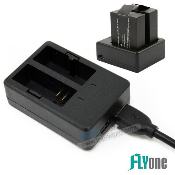 原廠公司貨SJCAM 電池充電器雙孔座充SJ4000 SJ5000 M10【FLYone泓愷】