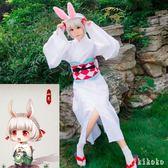Cosplay 陰陽師神山兔服假發木屐和服浴衣山兔頭飾 DR2300【KIKIKOKO】