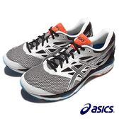 【asics 亞瑟士】(男)寬楦慢跑鞋 跑步鞋 銀黑色