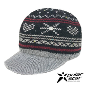 【PolarStar】女 星心保暖馬球帽『黑』P19601 羊毛帽 毛球帽 針織帽 毛帽 毛線帽 帽子