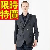毛呢大衣-羊毛魅力保暖短版男風衣外套62n2【巴黎精品】