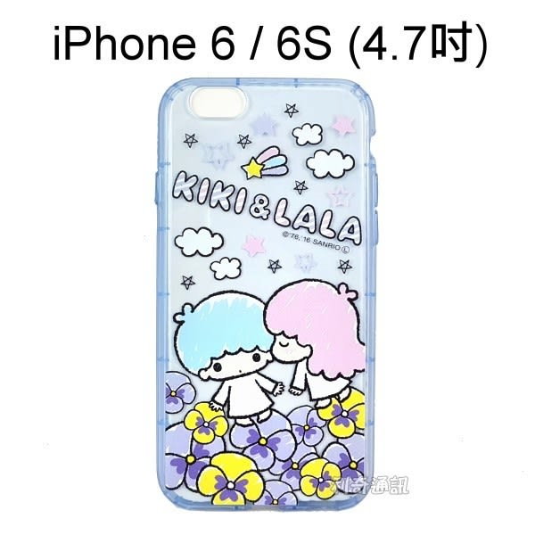雙子星空壓氣墊軟殼 [花朵] iPhone 6 / 6S (4.7吋)【三麗鷗正版授權】