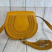 BRAND楓月 Chloe MARCIE系列 編織造型 蛋黃色 鈴鼓包 馬鞍包 斜背小包