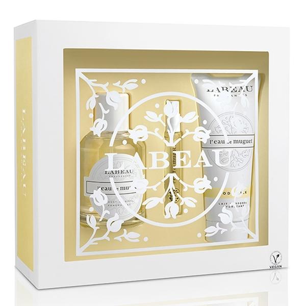 LABEAU 純淨花園鈴蘭淡香水禮盒 (香水100ml+小香水7.5ml+身體乳100ml)Vivo薇朵