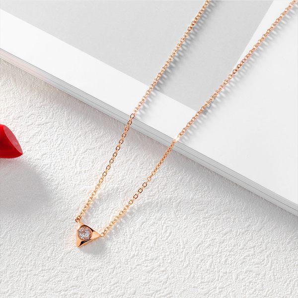 白鋼項鍊 閨蜜項鍊 三角形 韓系風格 生日禮物 聖誕節禮物 單件價【AKS1306】Z.MO鈦鋼屋