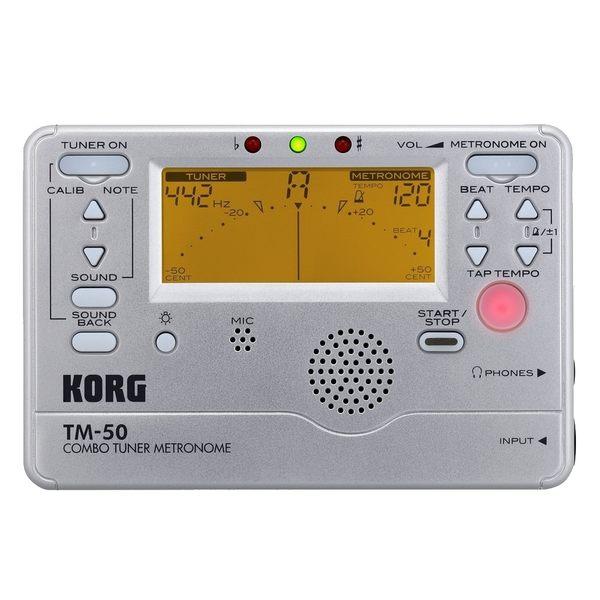 【非凡樂器】KORG TM-50 調音節拍器 不須切換可同時操作 / 銀色 公司貨