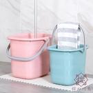 儲水桶塑膠桶家用拖把桶手提長方形桶【櫻田...