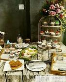 英式下午茶點心架 婚慶甜品台水果托盤架茶歇冷餐展示架 糕點擺件  夏季新品
