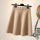 大碼女裝針織半身裙高腰a字短裙子【邻家小鎮】