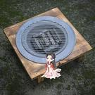 碳火爐 家用冬季炭火盆室內取暖烤火盆實木老式鑄鐵木碳火盆取暖爐T
