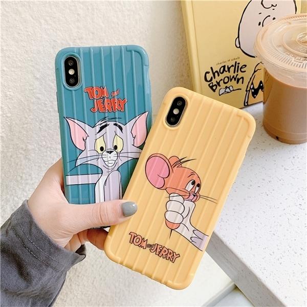 【SZ52】華為 nova4e 手機殼 黃藍貓鼠行李箱 P20 手機殼 P30 保護殼 P30 pro 手機殼 Y9 2019 手機殼