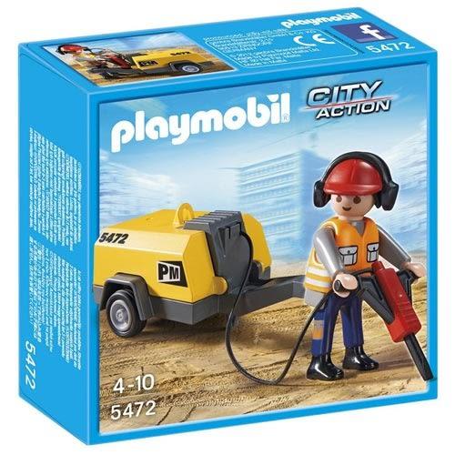 playmobil 建築工程系列 建築工人用千斤頂錘 PM05472