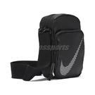 Nike 斜背包 NSW Heritage Winterized Crossbody 黑 銀 男女款 反光設計 運動休閒 【ACS】 DB4696-010