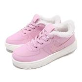【六折特賣】Nike 休閒鞋 Force 1 18 SE TD 粉紅 白 Air Force 保暖毛料內裡 童鞋 小童鞋【ACS】 AR1134-600