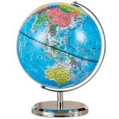 政區地球儀20cm中號高清臺燈地球儀學生用32cm 全館免運