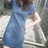 洋裝連身裙2019新款韓版夏季牛仔連身裙女中長款寬鬆大碼顯瘦包臀a字裙薄潮