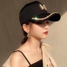 鴨舌帽 外貿帽子女夏秋旅游棒球帽韓版時尚女士鴨舌帽帶鉆帽子女一件代發