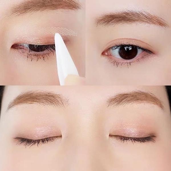 雙眼皮貼 Skinstar蕾絲雙眼皮貼女橄欖型沾水即粘隱形網狀透氣送工具免膠水 風尚
