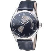 HAMILTON漢米爾頓 JAZZMASTER爵士系列OPEN HEART 80小時自動腕錶 H32705731