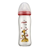 貝親 Pigeon 母乳實感彩繪玻璃奶瓶240ml(長頸鹿) P78109R[衛立兒生活館]