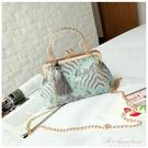 包包女大氣款復古手拿包印花包女手提包新款中國風斜背小包 黛尼時尚精品