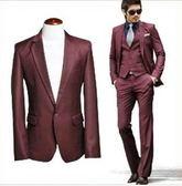 西裝套裝含西裝外套+褲子-非凡精緻商務成套男西服6x26[巴黎精品]