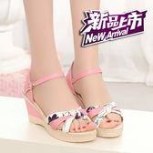 羅馬涼鞋 厚底坡跟涼鞋 外穿魚嘴涼鞋 平底涼鞋拖鞋 韓國高跟涼鞋 休閒女涼鞋