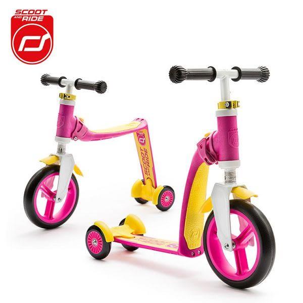 奧地利 Scoot & Ride 升級版 滑步滑板平衡車/滑步車/滑板車-寶貝粉