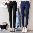 MIUSTAR 經典素色假腰頭顯瘦彈力褲(共2色,S-XL)【NJ1441EW】預購