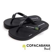 Copacabana 經典巴西國旗兒童人字鞋-黑色