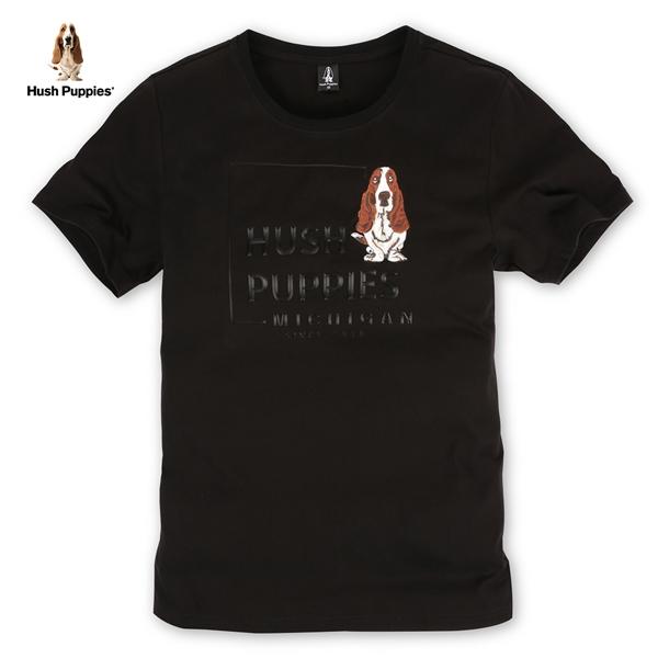 Hush Puppies T恤 男裝立體膠印刺繡狗T恤