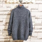 男士毛衣2019冬季新款潮流半高領韓版毛衫針織衫修身線衣男裝衣服 童趣