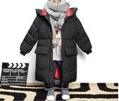 兒童男童羽絨棉服加厚中長版過膝外套冬裝棉襖寶寶中大童  酷男精品館