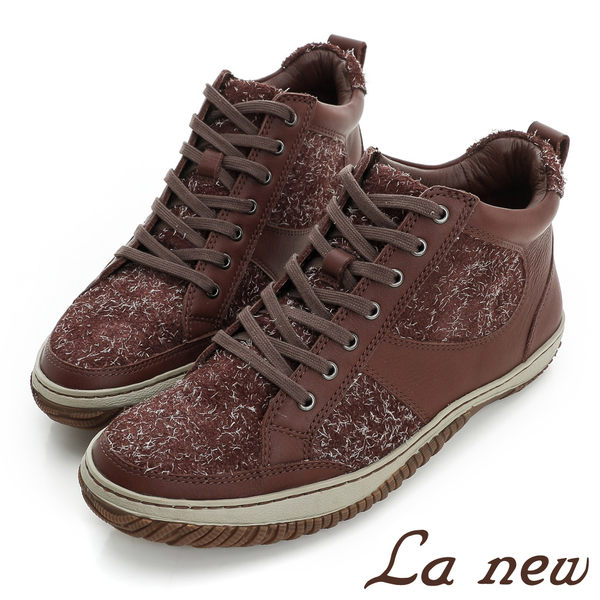 【La new outlet】PU氣墊半高統休閒鞋(女220025801)