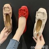豆豆鞋2020年秋季新款淺口單鞋平底軟底豆豆鞋女夏百搭軟皮奶奶鞋蛋卷鞋  COCO