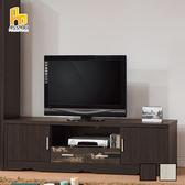 ASSARI-(黑檀)仿古風6尺電視櫃(寬180*深39*高51cm)