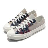 Converse 休閒鞋 Chuck Taylor All Star 70 卡其 白 男鞋 女鞋 格紋 拼接 帆布鞋 運動鞋 【ACS】 169835C