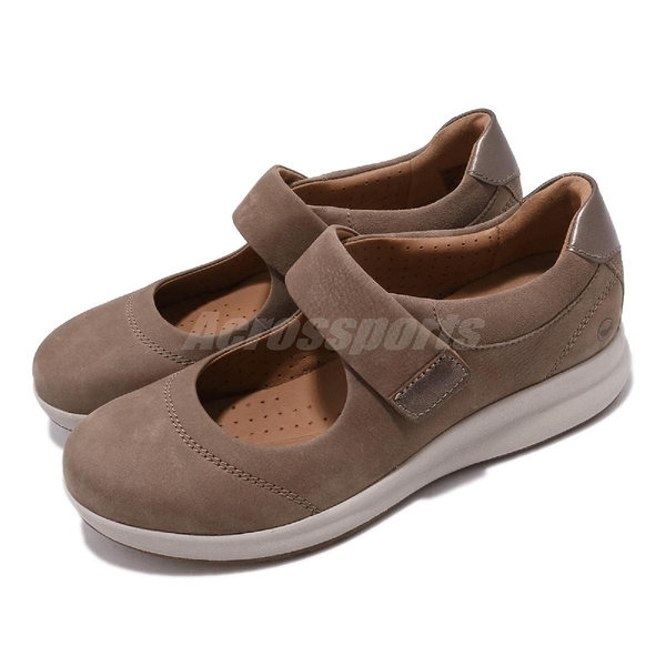 Clarks 休閒鞋 Un Adorn Strap 棕 套入式 真皮鞋面 女鞋 【PUMP306】 CLF40135SC19