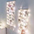 ins風臥室網紅照片墻掛件創意個性麻繩夾子宿舍家居裝飾品相片墻 8號店WJ