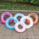 救生圈 網紅熱賣透明羽毛游泳圈成人加厚PVC充氣泳圈坐圈救生圈現貨