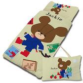 【享夢城堡】小熊學校 讀書樂-兒童睡袋(綠)