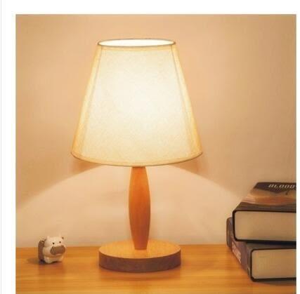 現貨 北歐溫馨餵奶臺台燈 臥室床頭燈 實木可調光 創意小夜燈 熱銷88折