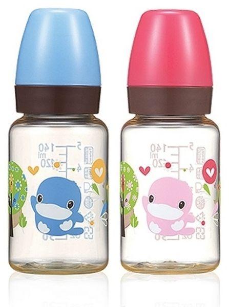 KUKU酷咕鴨  歐風經典PES標準奶瓶140ml  (藍/粉兩色)  KU5850