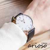 Arioso 簡約時尚設計真皮腕錶 AR1708SS