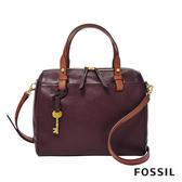 FOSSIL RACHEL 無花果紫紅色真皮波士頓包 ZB7792503
